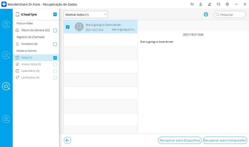 dados do whatsapp recuperados do icloud