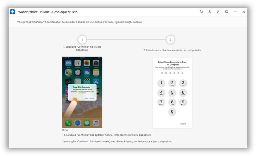 locked out of ipad-ignore trust notification