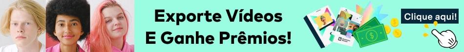 criar e exportar video para gangar dinheiro e assinatura gratuita do Filmora e Filmstock