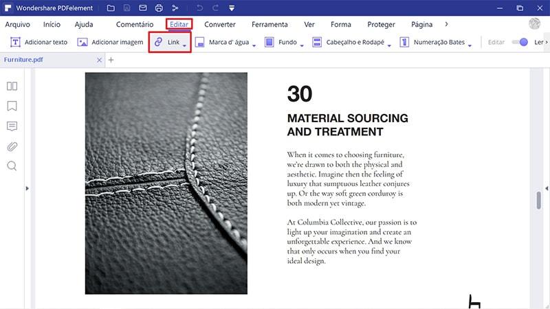 como criar um link para um pdf