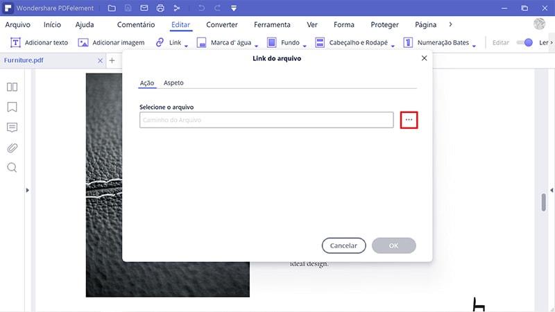 criar hiperligação no pdf