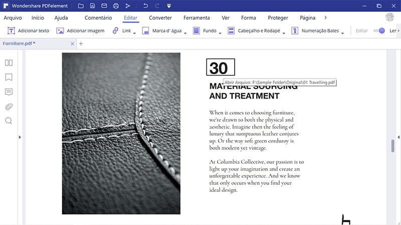 como criar um hiperligação num pdf