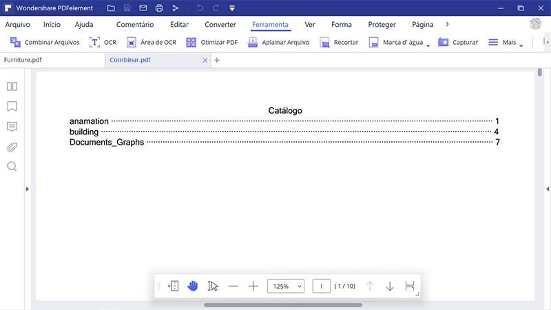 gerar novo catálogo no pdf