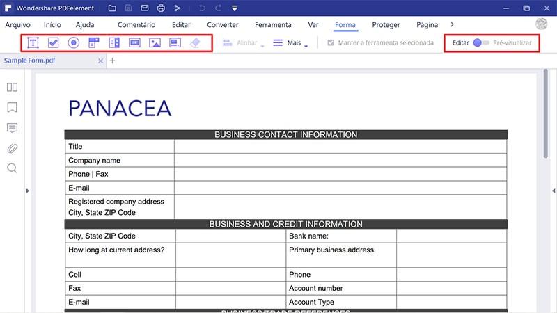 como criar um documento Word com campos de preenchimento