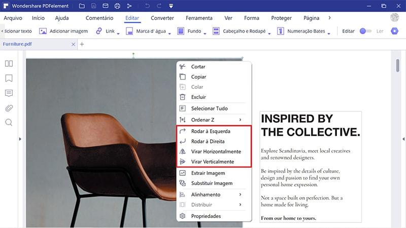redimensionar imagem em pdf