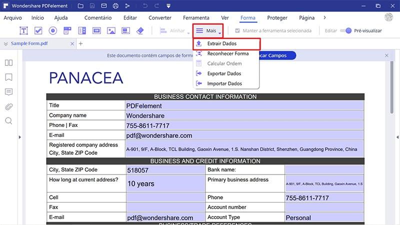 extrair dado de pdf para excel