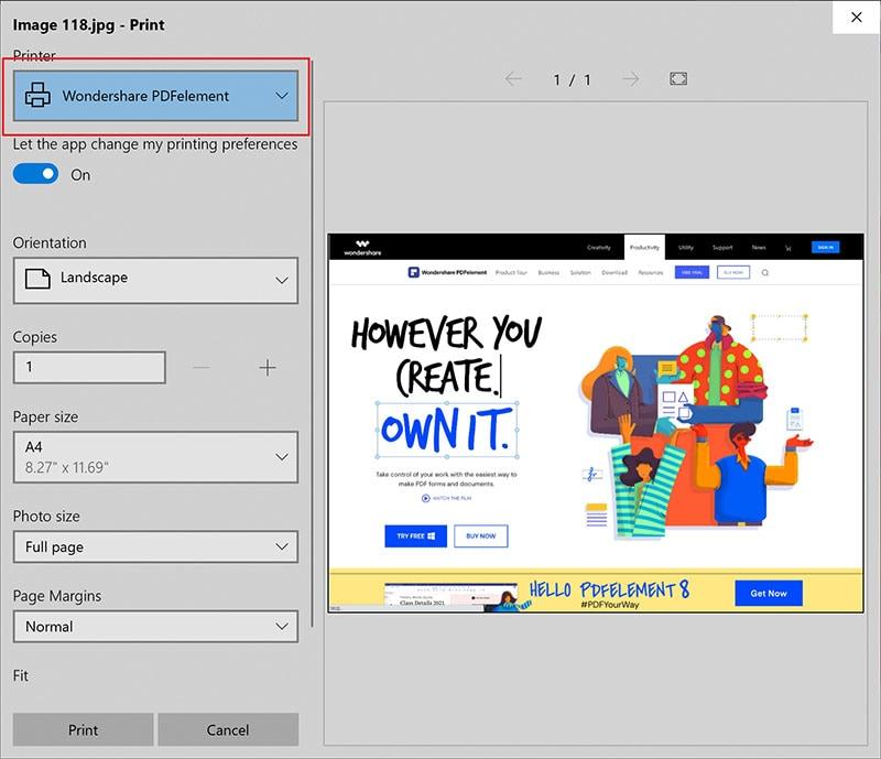 como salvar uma captura de tela como pdf