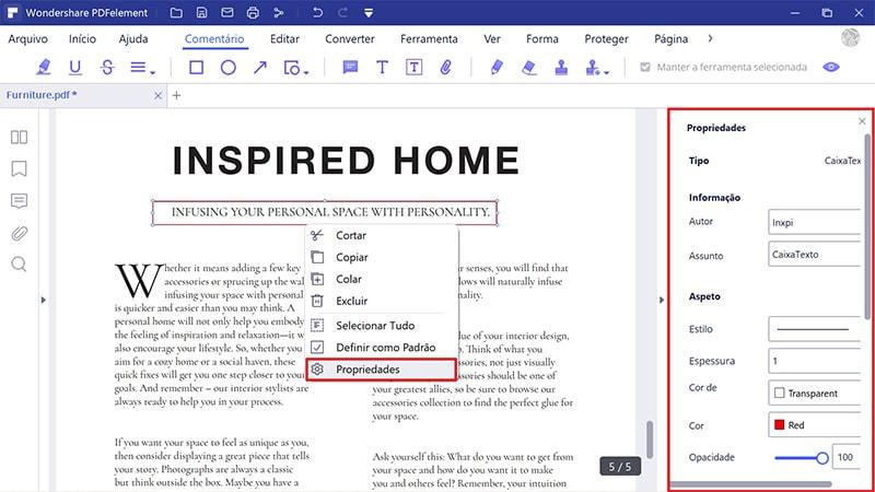 como editar um formulário pdf