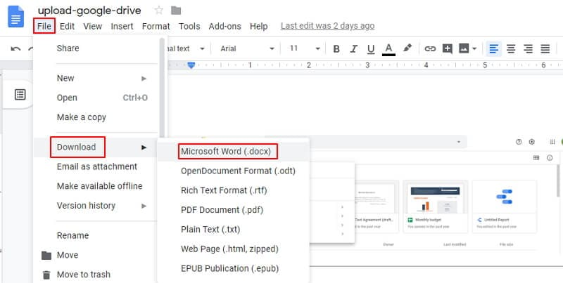 convert picture to word doc