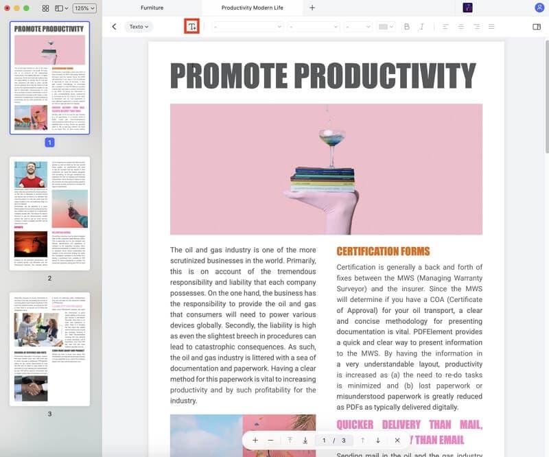 editar textos em pdf no mac
