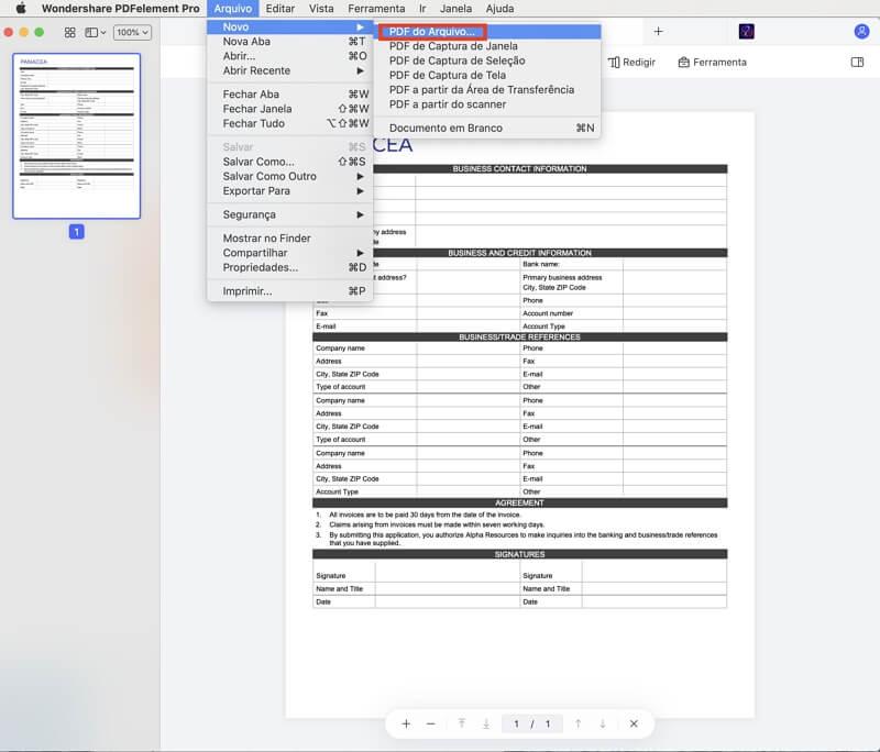 fazer pdf a partir de imagens no mac