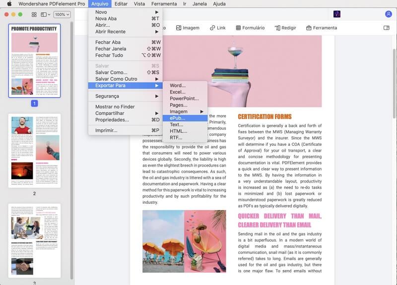 conversor de pdf para epub mac