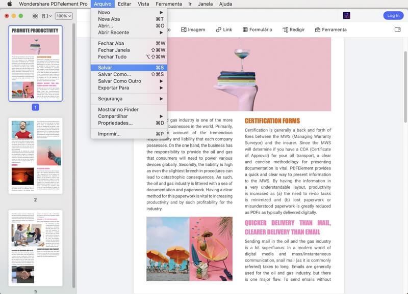 como editar textos em pdf no mac