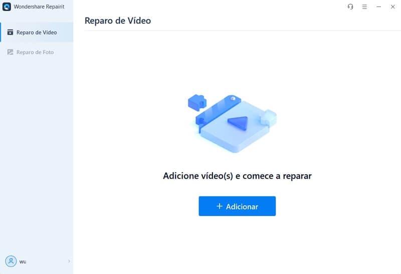 Adicionar vídeos para reparar