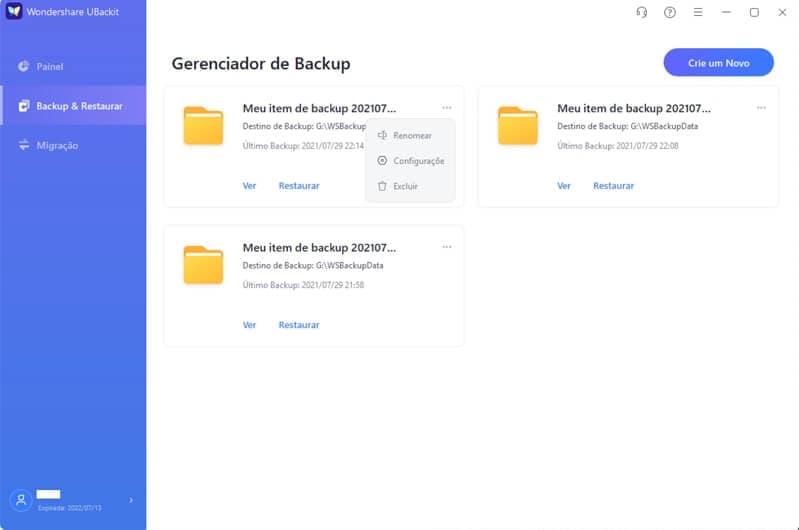 definir backup automático