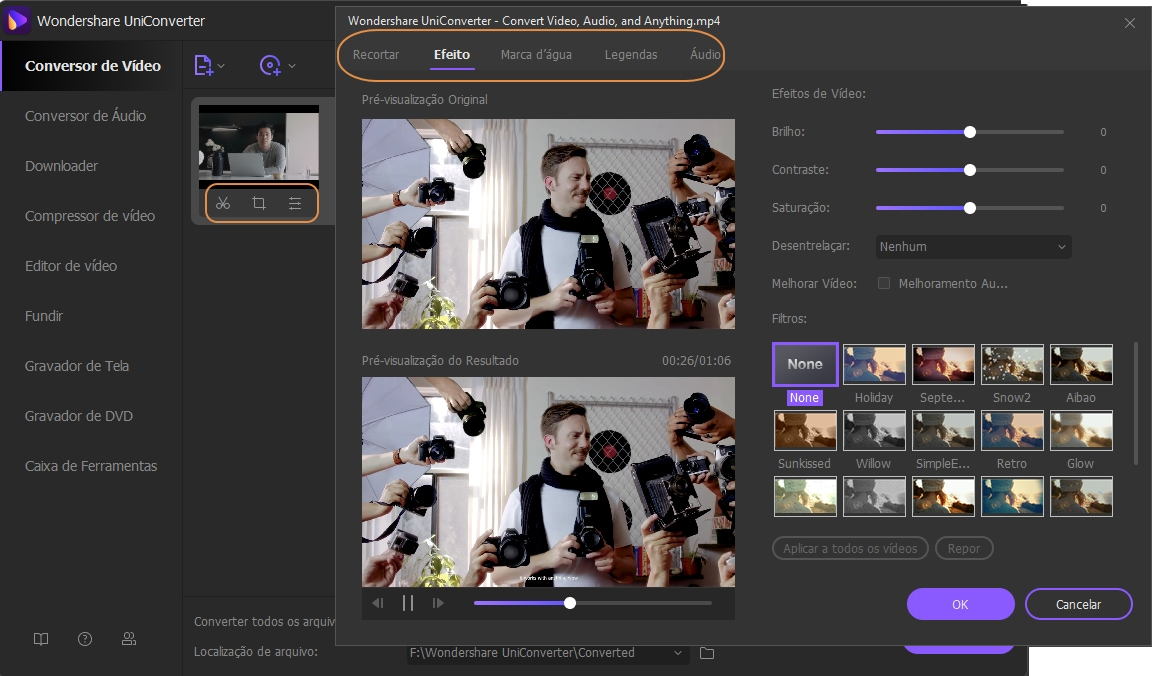 Edit the output video - convert mp4 to iPhone